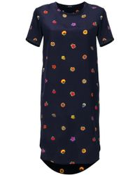 PS by Paul Smith - Floral Print T-shirt Dress - Lyst
