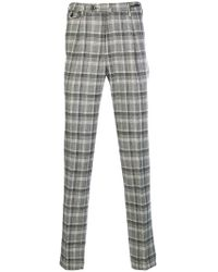 PT01 - Tailored Plaid Trousers - Lyst