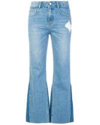 SJYP - Boot Cut Cropped Jeans - Lyst