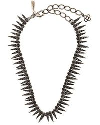 Oscar de la Renta - Sea Urchin Crystal Necklace - Lyst