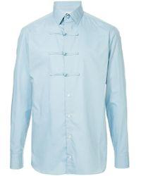 Kolor - toggle Button Shirt - Lyst