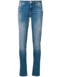 7 For All Mankind - Faded Slim Jeans - Lyst