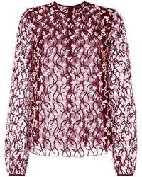 Giambattista Valli - Embroidered Flower Shirt - Lyst