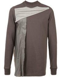 Rick Owens - Draped Panel Sweatshirt - Lyst