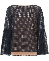 Prabal Gurung - Embroidered Perforated Blouse - Lyst