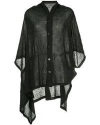 Y's Yohji Yamamoto - Shawl Collar Blouse - Lyst