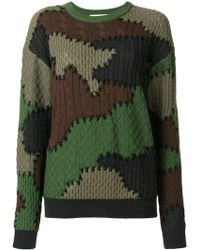 Moschino - Wool Camouflage Sweater - Lyst