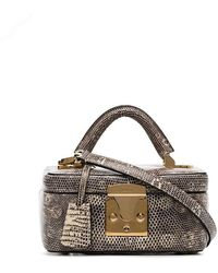 0ddc2f1b5ddd Chanel Vintage Brown Lizard Skin Medium Classic Double Flap Bag in ...