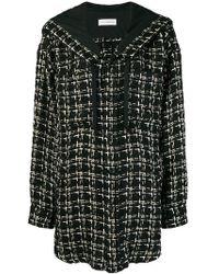 Faith Connexion - Hooded Tweed Coat - Lyst
