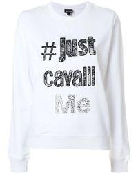 Just Cavalli - Logo Design Sweatshirt - Lyst