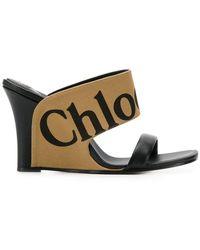 Chloé - Verena Logo Sandals - Lyst