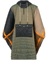 Mostly Heard Rarely Seen - Quilted Padded Poncho - Lyst