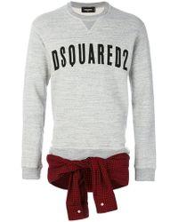 DSquared² - Shirt Tie-waist Sweatshirt - Lyst