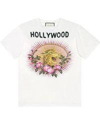 Gucci - Leopard Print Cotton T-shirt - Lyst