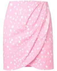 142de4bafe Vivetta Short Flared Skirt in Red - Lyst