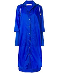 Marni - Long Extended Cuff Raincoat - Lyst