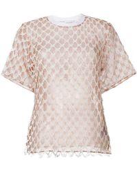 Off-White c/o Virgil Abloh - Embroidered Logo T-shirt - Lyst