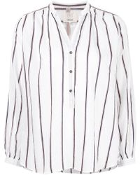 Diega - Striped Button Up Blouse - Lyst