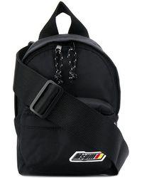 MSGM - Black Mini Logo Backpack - Lyst