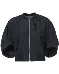 KUHO - Cropped Zip-up Bomber Jacket - Lyst