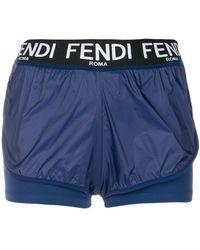 Fendi - Roma Running Shorts - Lyst