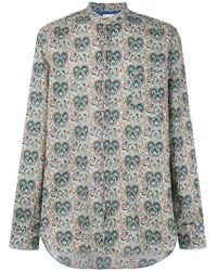Paul Smith - Paisley Collarless Shirt - Lyst