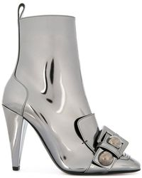 N°21 - Buckle-detail Metallic Boots - Lyst