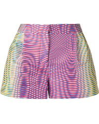 Mary Katrantzou - Zeta Optic Moire Print Shorts - Lyst