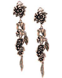 Ferragamo - Metallic Flower Earrings - Lyst