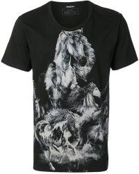 Balmain - Printed Horse T-shirt - Lyst