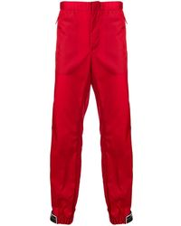 Prada - Shiny Tapered Trousers - Lyst