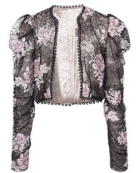 Anna Sui - Rose Embroidered Lace Jacket - Lyst