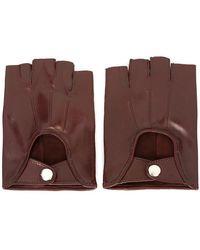 Ann Demeulemeester Fingerless Gloves - Red