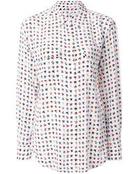 Equipment - Classic Embroidered Shirt - Lyst