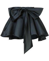 Dice Kayek - Satin Gathered Bow Mini Skirt - Lyst