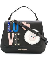 Love Moschino - Embellished Logo Tote - Lyst