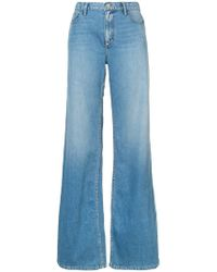 Oscar de la Renta - Wide Leg Washed Effect Jeans - Lyst