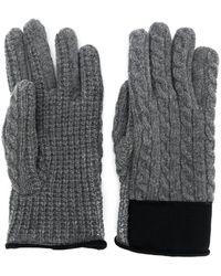 moncler gloves grey