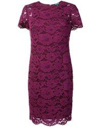 Lauren by Ralph Lauren - Floral Lace Dress - Lyst