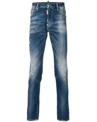 DSquared² - Faded Slim Fit Jeans - Lyst