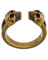 Alexander McQueen - Skull Engraved Ring - Lyst