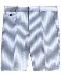 Burberry - Striped Cotton Blend Tailored Shorts - Lyst