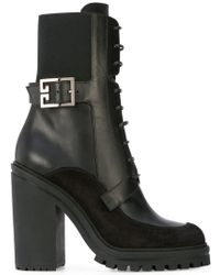 Givenchy - High-heel Combat Boots - Lyst