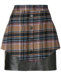 Gaëlle Bonheur - Tartan Overlay Mini Skirt - Lyst
