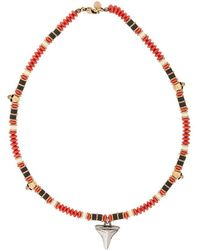 Alexander McQueen - Beaded Shark Tooth Necklace - Lyst