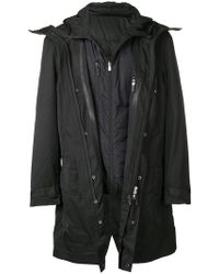 Neil Barrett - Layered Coat With Padded Underlayer - Lyst