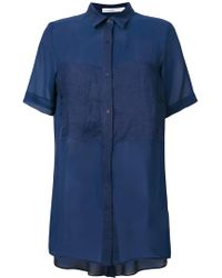 Gentry Portofino - Short-sleeved Long Shirt - Lyst
