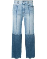 Stella McCartney - Two-tone Cropped Jeans - Lyst