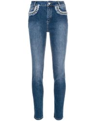 Twin Set - Pearl Embellished Skinny Jeans - Lyst
