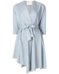 DROMe - Belted Wrap Dress - Lyst